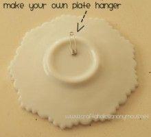 Inexpensive way to hang plates.