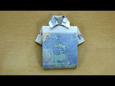 Geldschein falten Hemd: Zum Geldgeschenke basteln Eine einfache Variante wie man einen Geldschein falten kann. Dieses Hemd aus Geld eignet sich für die versc...