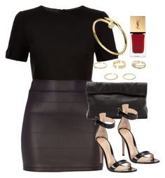 """Style #10368"" by vany-alvarado ❤ liked on Polyvore featuring Ted Baker, River Island, Marie Turnor, Gianvito Rossi and Yves Saint Laurent"