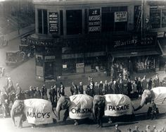 The Macy's Thanksgiving Day Parade dates as far back as the 1920's, when Macy's employees, many of whom were immigrants, began this tradition in an attempt to connect with American culture by celebrating Thanksgiving.