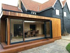 Easy Ways Change Your Home so that a Amazing with Bi Fold Doors - House Extension Plans, House Extension Design, Extension Designs, Glass Extension, Roof Extension, House Design, House Cladding, Timber Cladding, Home Addition Plans
