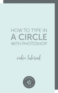 Have you ever seen text running around the edge of a circle or along a curved line? You may have seen it on a button or badge on an image, or on a blog or social media image.Today's video will introduce you to paths and show you how to create a circular badge for your website or social media images. http://itsorganised.com | photoshop video tutorials