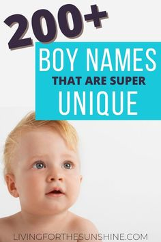 Are you looking for an uncommon name for your baby boy? This list of unique names for boys will help you find the perfect baby name. lots of rustic names, boho names, rare names, Southern names, preppy names, country names and more! Find the perfect unusual name for your new son! #names #Boynames #babynames #uniquenames #baby #pregnant Unique Names For Boys, Different Boy Names, Unusual Boy Names, Names For Boys List, Rare Names, Cool Boy Names, Cute Baby Names, Baby Girl Names, Baby Boy