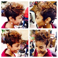 Short, sweet, sassy and bold for 2014! New haircut and color by the one and only Phil Lankford!