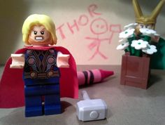Thor, I'm gonna take away your crayons if you keep drawing on the walls.