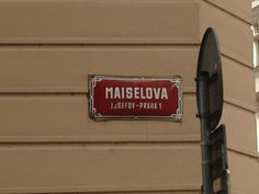 Maiselova street, the heart of Jewish Quarter in Prague