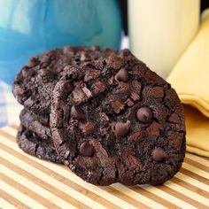 Double Chocolate Mint Chip Cookies - this was another of the most popular recipes last year from our annual November Cookie Recipe-a-Day. Soft, chewy, rich, decadent and so deliciously chocolate mint.