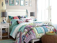 I love the PBteen Tropical Garden Bedroom on pbteen.com