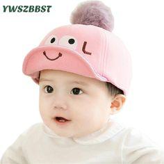 3412170de Moda Sombrero Del Bebé Del Algodón Gorra de Béisbol Del Bebé Infantiles  Sombreros de Piel bola