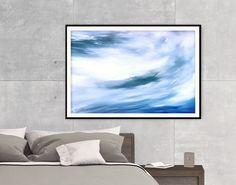 Capture your sense of freedom! Blue abstract poster - Shop printables by FraBorArt.  #walldecor #homedecor #interiordesign #painting #modernart #abstract #digitalart #downloadable #printable #affordable #etsy #art #fraborart