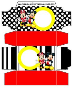 Mickey and Minnie - Complete Kit with frames for invitations, labels for snacks, souvenirs and pictures!   Making My Party
