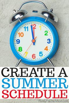Set up a summertime schedule with your kids. That way, they know what comes next! Find out how we made one for our kids and even put it on display so they could see it all summer long Create a schedule Summer Schedule, Kids Schedule, Summer Activities For Kids, Summer Kids, Free Summer, Summer School, Happy Mom, Happy Kids, Summer Calendar
