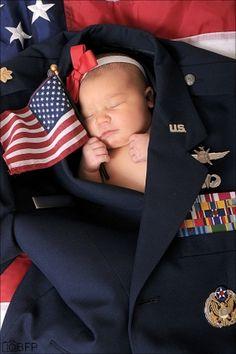 Proud American Newborn