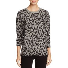 C by Bloomingdale's Cashmere Leopard Print Crewneck Sweater - 100%... (2.848.000 IDR) ❤ liked on Polyvore featuring tops, sweaters, cement com, wool cashmere sweater, leopard top, leopard sweater, crew neck sweaters and leopard print cashmere sweater