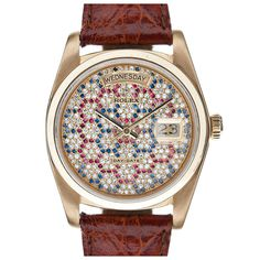 "ROLEX Incredibly Rare ""Gem Encrusted Honeycomb Dial"" Day-Date"