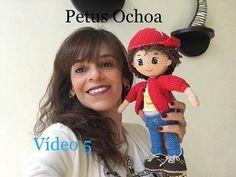 Como tejer brazos amigurumi muñeco Mauricio QUINTA PARTE - YouTube