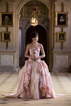 www.collectionwedding.com pink wedding dress