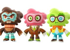 Great artist Scott Tolleson. He works in Digital art, Vinyl toys and Plush. These creations are from his Nosellots line of plush. Check out his other work at http://www.stolleart.com/