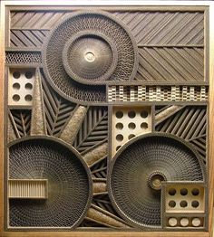 Mark Langan Cardboard sculpture