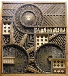 Mark Langan Cardboard sculpture