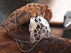 Love Birds Necklace Pendant Designer Artisan by serpilguneysu