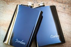 Black Flask 8 oz. Personalized Flask Engraved by EngraveMeThis