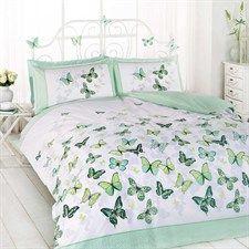 Flutter Green 3 Piece King Quilt Set