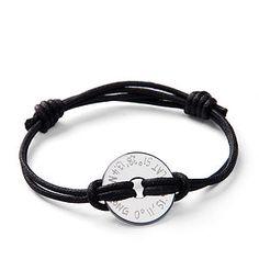 Personalised Coordinate Open Disc Bracelet - men's jewellery