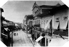 Rua da Imperatriz, 1887 (atual rua Quinze de Novembro). (Militão Augusto de Azevedo)