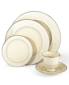 Lenox Dinnerware, Pearl Innocence Collection - Lenox Fine China - Dining & Entertaining - Macy's