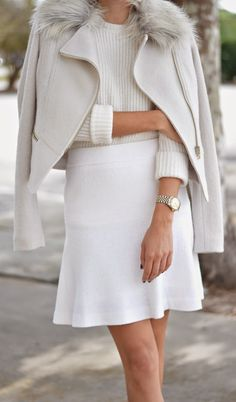 winter white, ivory, fashion, style