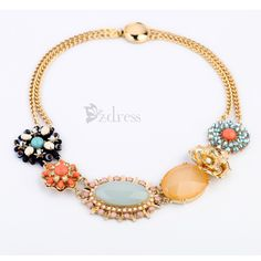 Luxuriant Gem Embellished Alloy Necklace For Women
