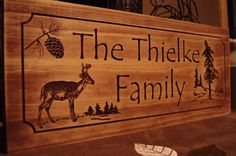 Custom Carved Rustic Family Last Name by BenchmarkSignsGifts, $39.99