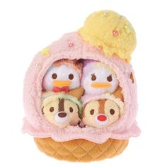 Disney Store Japan - Tsum Tsum Ice Cream Set - Donald, Daisy, Chip, and Dale. Release date 3rd May 2016