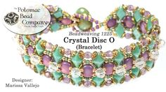 Crystal Disc O Bracelet (Tutorial). ★★★ In this video tutorial from Potomac Bead Company, Marissa teaches you how to make here Crystal Disc O bracelet design. Jewelry Patterns, Bracelet Patterns, Bracelet Designs, Beading Patterns, Crystal Jewelry, Beaded Jewelry, Beaded Bracelets, Diy Jewelry, Jewlery