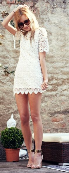 White lace dress summer fashion collection #2dayslook #summercollection www.2dayslook.com