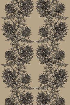 Timorous Beasties Fabric - Thistle