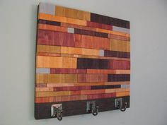 The Naked Slat Coat Rack (orange) - functional wooden wall art