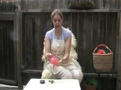 how to spin silk from silk hankies on a beaded supported spindle