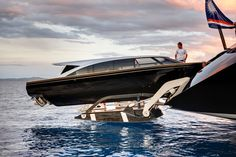 stunning custom built limousine tender extends her mothership's style and quality, the yacht Vertigo built by Alloy Yachts and designed by Phillipe Briand & Christian Liaigre - Seatech Marine Products & Daily Watermakers Yacht Design, Boat Design, Yacht Boat, Yacht Club, Buy A Boat, Boat Trailer, Remo, Super Yachts, Luxury Yachts