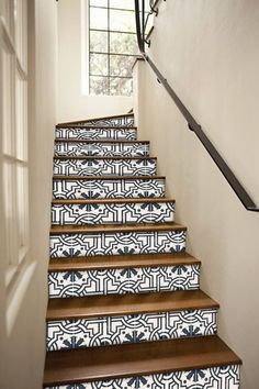 Stair risers can often be overlooked in the grand scheme of our home decor, but dont let this unused sweet spot go to waste. This space can really make a big statement when given a little love and attention. Creative use of Quadrostyle stair risers can really draw attention to an