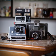 Polaroid Cameras Set Of 3, now featured on Fab.