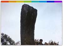 Sibuta Lung is an ancient memorial stone surrounded by a strange legend. It is located 20 km of Aizawl town in the north eastern state Mizoram.