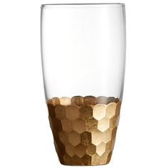 Enjoy this set of Daphne Gold Hiball 17.6-ounce Tumblers, and add it to your kitchen. These tumblers are perfect for a party.