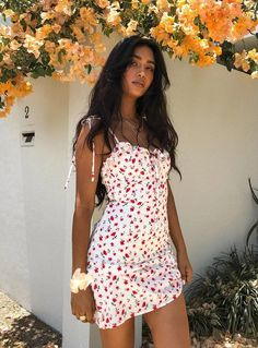 Floral Print Dress Shoulder Straps Slim Fit Mini Sweet Frill Dress - Floral Print Dress Shoulder Straps Slim Fit Mini Sweet Frill Dress – Hplify Source by sherrychimes - Spring Outfits, Trendy Outfits, Cute Outfits, Summer Dress Outfits, Pretty Summer Dresses, Spring Dresses, Insta Outfits, Summer Mini Dresses, Classy Outfits