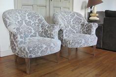paire de fauteuils crapaud tapissier à Bohars