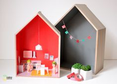 printable paper furniture to make easy dollhouses...