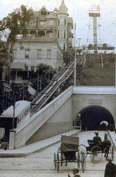 Historic Los Angeles Bunker Hill | Historical Panorama of Los Angeles.: 3rd & Hill Street, Los Angeles