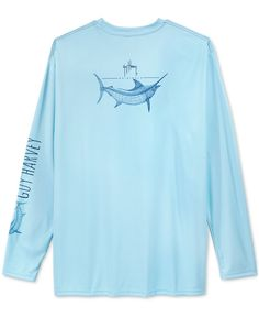 02103e40ae21 Guy Harvey Men's Performance UV Protection Graphic-Print Long-Sleeve T-Shirt  & Reviews - T-Shirts - Men - Macy's