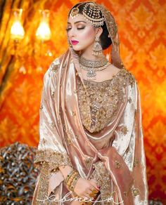Dec 2019 - A wedding ceremony is one of the very important occasions for a woman and she wants to make her wedding memorable and perfect. Beautiful embellished bridal dresses ideas for weddings. Asian Bridal Dresses, Beautiful Bridal Dresses, Muslim Wedding Dresses, Muslim Brides, Wedding Dresses For Girls, Indian Muslim Bride, Wedding Hijab, Muslim Couples, Bridal Outfits